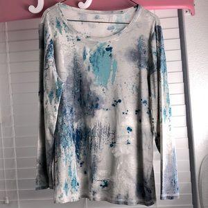 Relativity knit long sleeve shirt 2x